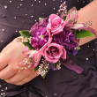 Wrist Corsage — Stock Photo