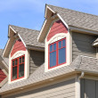 Gable Dormers on Residential Home — Stock Photo