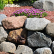 Stone Retaining Wall — Stock Photo