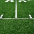 30 Yard Line on American Football Field - Foto de Stock