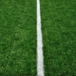 50 Yard Line on American Football Field — Stock Photo
