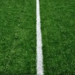 50 Yard Line on American Football Field — Foto Stock