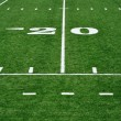 Stock Photo: 20 Yard Line on AmericFootball Field