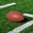 Stock Photo: American Football on Artificial Turf