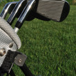 Irons in a Golf Bag — Stock Photo
