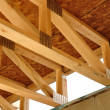 Trusses Above Basement — Stock Photo