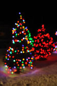 Intreepupil kerstverlichting — Stockfoto