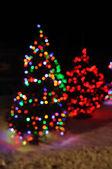 Rozostření vánoční osvětlení — Stock fotografie