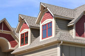 Gable Dormers on Residential Home — Foto de Stock