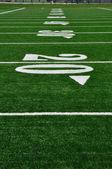 20 Yard Line on American Football Field — Stock Photo