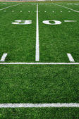 30 Yard Line on American Football Field — Stock Photo