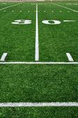 Linea 30 yard sul campo di gioco del calcio americano — Foto Stock