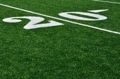 20 Yard Line on American Football Field — Стоковое фото