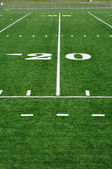 20 Yard Line on American Football Field — Foto Stock