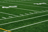 Forty Yard Line on American Football Field — Foto Stock