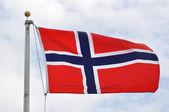Norwegian Flag — Stock Photo