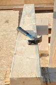 Martello da carpentiere a bordo — Foto Stock