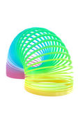 Multi-Colored Spring Toy Isolated on White — Stock Photo