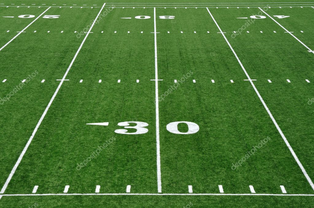 Thirty Yard Line on American Football Field — Stock Photo #6052852