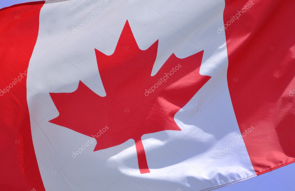 Close up of the Flag of Canada  Stock Photo #6052995