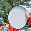 Drummer Playing Bass Drum in Parade — Stock Photo #6507507