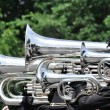 Stock Photo: Playing Marching Tubas and Baritones in Parade