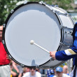 Drummer Playing Bass Drum in Parade — Stock Photo #6507562
