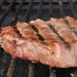 Beef Loin Top Sirloin Steak on the Grill — Stock Photo #6509309