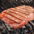 Beef Loin Top Sirloin Steak on the Grill — Stock Photo #6509364