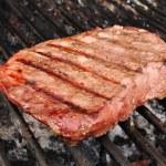 Beef Loin Top Sirloin Steak on the Grill — Stock Photo