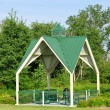 Picnic Shelter in Park — Stock Photo