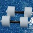 Stock Photo: Pair of Water Aerobics Dumbbells
