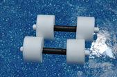 Pair of Water Aerobics Dumbbells — Stock Photo
