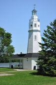 White Brick Lighthouse — Stock Photo