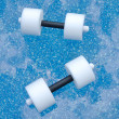 Pair of Water Aerobics Dumbbells - 图库照片
