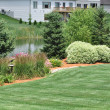 Foto de Stock  : Backyard Landscaping