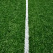 Fifty Yard Line on American Football Field - Stock Photo
