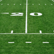 Stock Photo: Twenty Yard Line on AmericFootball Field
