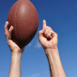 American Football Player Celebrates a Touchdown — Stock Photo
