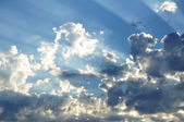 Sunbeams Through the Clouds — Stock Photo