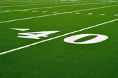 Forty Yard Line on American Football Field — Stock Photo