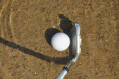 Golf Ball and Iron in a Water Hazard — Stock Photo