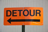 Orange Detour Sign — Stock Photo