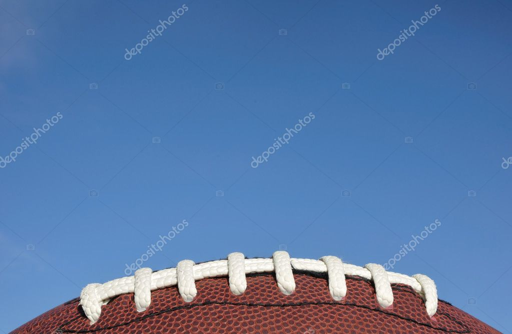 美式足球花边的特写