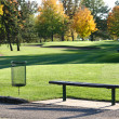 Golf Tee Box and Bench — Stockfoto