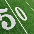 View From Above of Fifty Yard Line on American Football Field — Stock Photo #6642437