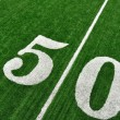 View From Above of Fifty Yard Line on American Football Field — Stock Photo #6642439
