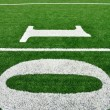 Stock Photo: Ten Yard Line on AmericFootball Field