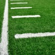 Sideline on American Football Field — Foto Stock