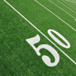 View From Above of Fifty Yard Line on American Football Field — Stock Photo #6642557